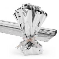 Hygloss Products, Mylar Gift Wrap Roll, 24-Inch by 8.3-Feet, Silver