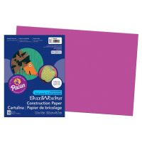 SunWorks Heavyweight Construction Paper, Magenta 12
