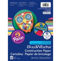 SunWorks Heavyweight Construction Paper, ASSORTED COLORS 9