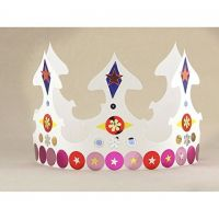 Hygloss  24-Piece ultra white Tag Paper Crowns 65243