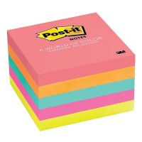 Post-it Notes, 3 in x 3 in, Cape Town Collection, 5 Pads/Pack, 654-5PK