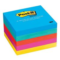 Post-it Notes, Jaipur Collection, 3 inch x 3 inch, 5 Pads/Pack , 654-5UC