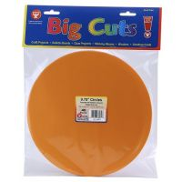 CIRCLE CUT OUTS IN ASST COLORS. - 9 3/4 INCH (40)