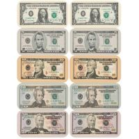 Eureka Paper Currency Banner Stickers (682005)