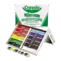 Crayola 240 Colored Woodcase Pencil Classpack, 3.3 mm, 12 Assorted Colors 688024
