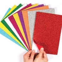 Self-Adhesive Glitter Foam Sheets Assorted colors, Sticky Foam 9 x 12 inches