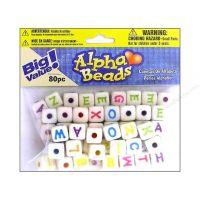 Alphabet Beads Large 10 mm Cube Assortment Colors Letters 300 pc.