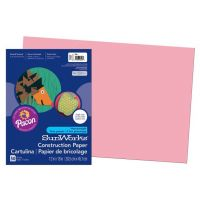 SunWorks Heavyweight Construction Paper, Pink 12