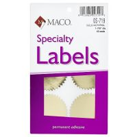 MACO Gold Foil Notarial Seals, 1-7/8 Inches in Diameter, 42 Per Box , OS-719