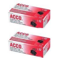 ACCO Binder Clips, Small, 12 Per Box , 72020