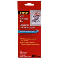 SCOTCH WALL MOUNTING TABS-48 PKG 1/2 X 3/4
