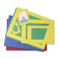 Precut Mat Frames, 4 Assorted Colors, 12 ea. of 5 Assorted Sizes, 60/pack Pacon 72550