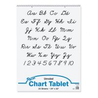 PACON CHART TABLET 24