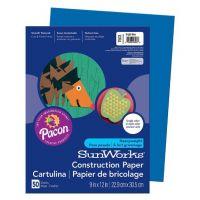 SunWorks Heavyweight Construction Paper, Bright Blue 9