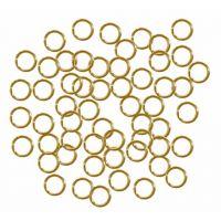 Jump Rings, 7mm, Gold - 144/pkg