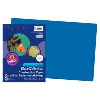 SunWorks Heavyweight Construction Paper, Bright Blue 12