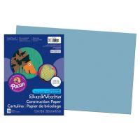 SunWorks Heavyweight Construction Paper, Sky Blue 12