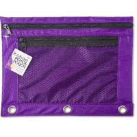 Pencil Pouch with 2 Pockets, Front Mesh Pocket