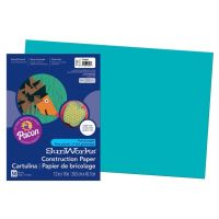 SunWorks Heavyweight Construction Paper, Turquoise 12