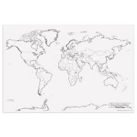 PACON GIANT WORLD MAP 48IN X 72IN,  PAC78770