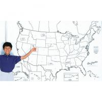 PACON GIANT US MAP 48IN X 72IN,  PAC78760
