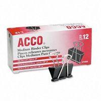 ACCO Binder Clips, Medium, 12 Per Box , 72050