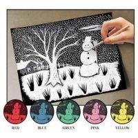 Melissa And Doug Scratch Art Paper Solid Color Assortment (12 sheets) 8003