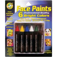 Crafty Dab Face Paint Jumbo Crayons - 6 Bright Colors