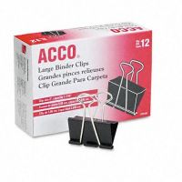 ACCO Binder Clips, Large, 12 Per Box , 72100