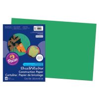 SunWorks Heavyweight Construction Paper, Holiday Green 12