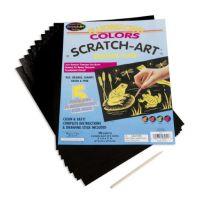 Melissa And Doug Scratch Art Paper Fluorescent Assortment (10 sheets) 8011