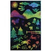 Melissa And Doug Rainbow Sparkle Scratch-Art Soft-Scratch Glitter Board, 8-1/2
