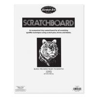 Melissa And Doug Scratch Art Black Coated 12 pt. Scratchboards (12 boards) 8080