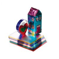 Hygloss Metallic Foil Paper 10 in. x 13 in. pack of 10 Assorted Colors