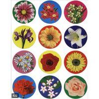 Flower Stickers 1 1/2