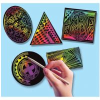 Melissa & Doug Scratch Art Geometric Scratchin' Shapes; Group Pack 1403