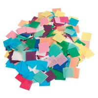 Hygloss Tissue Squares - 1.5 inch Squares - Pack of 2,500 Pieces - Assorted Colors