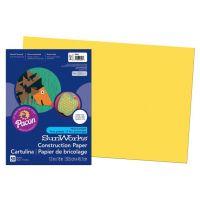 SunWorks Heavyweight Construction Paper, Yellow 12