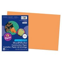 SunWorks Heavyweight Construction Paper, Yellow-Orange 12