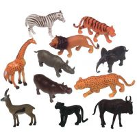 Get Ready Kids Zoo Wild Animal Playset of 12