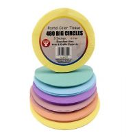 Hygloss 5 in Tissue Circles Pastel 480 Pcs