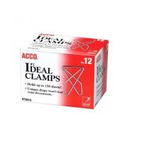 ACCO Ideal Paper Butterfly Clamp - Large - No. 1 - 150 Sheet Capacity - 12 / Box - Silver