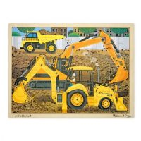 Melissa & Doug Diggers at Work Wooden Jigsaw Puzzle - 24 Pieces, item 9064