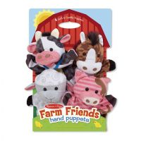 Melissa & Doug Farm Friends Hand Puppets Set of 4 - Cow, Horse, Sheep, and Pig