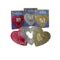 Hygloss 100 Heart Assorted Colors Doilies, 6