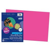 SunWorks Heavyweight Construction Paper, Hot Pink 12