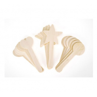 Darice Wood Topper Sticks - Shapes - 6 inches - 18 pieces (9151-47)