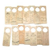 Darice Art Project Screen Printed Wood Door Hanger Set Of 12
