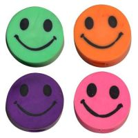 Smile Face Pencil Erasers, 48 units