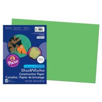 SunWorks Heavyweight Construction Paper, Bright Green 12